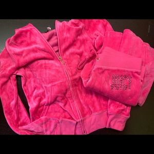 Juicy Couture Pink Track Suit